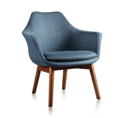 Brayden Studio Shue Armchair Upholstery: Aqua Blue