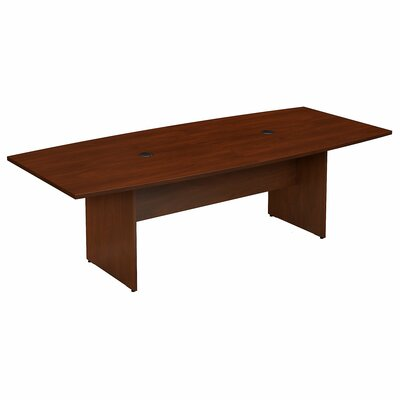 Bush Business Furniture Boat Shaped Conference Table Finish: Hansen Cherry