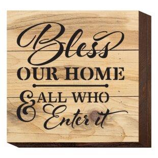 511534126af3  Bless Our Home  Textual Art Plaque