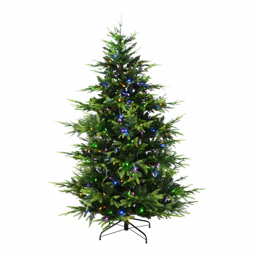 The Holiday Aisle Brecon Spruce 7\' Green Pine Artificial Christmas ...