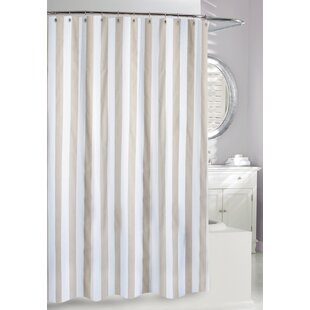 beige and white shower curtain.  Ralph Lauren Shower Curtain Wayfair