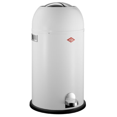 Wesco Kickmaster 7.5 Gallon Step On Trash Can Color: White