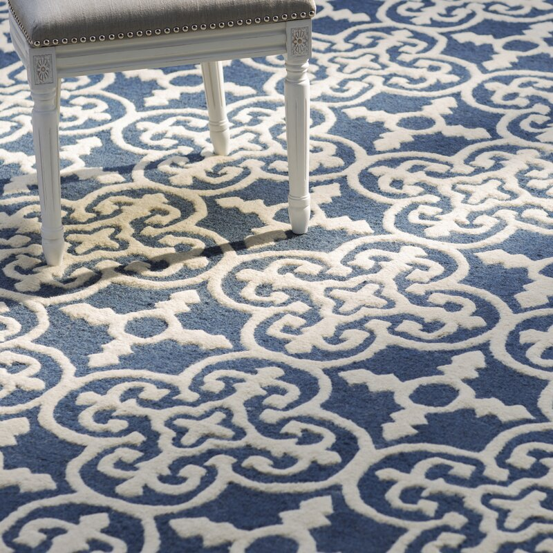 byron navy blue ivory area rug