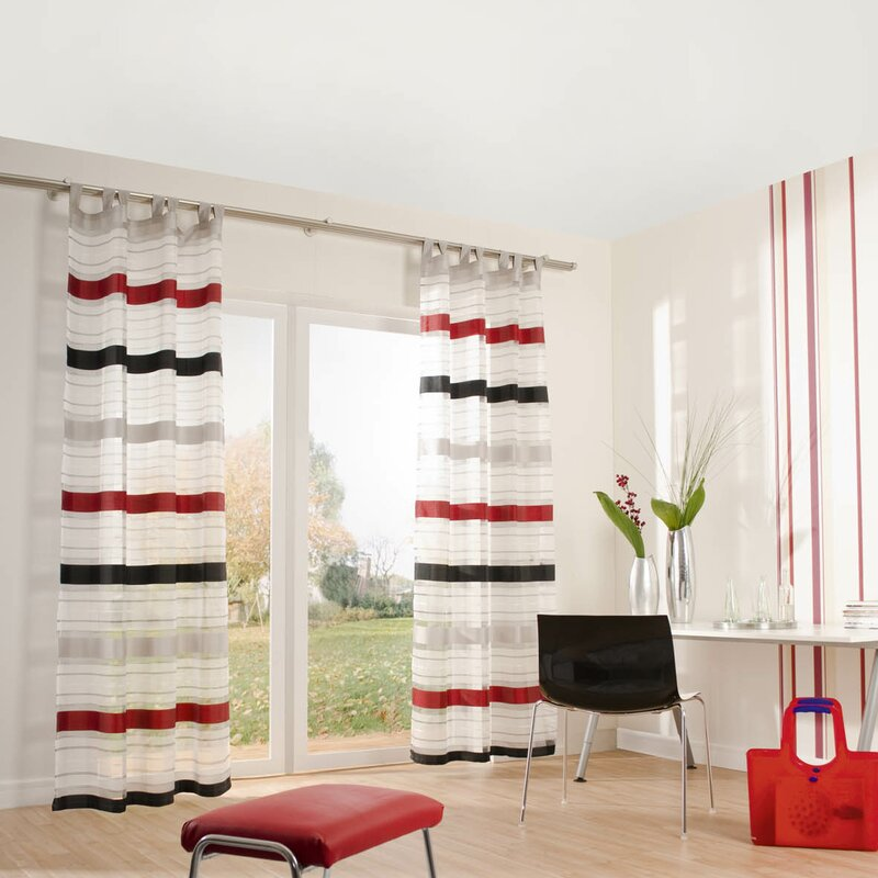 homing gardine norris mit schlaufen 1 st ck halbtransparent bewertungen. Black Bedroom Furniture Sets. Home Design Ideas