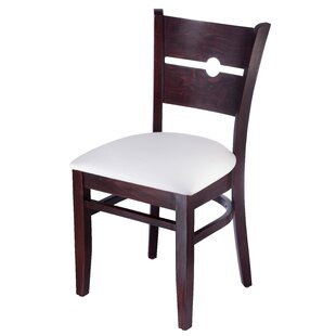 Coinback Side Chair in Faux Leather - Cream White (Set of 2)