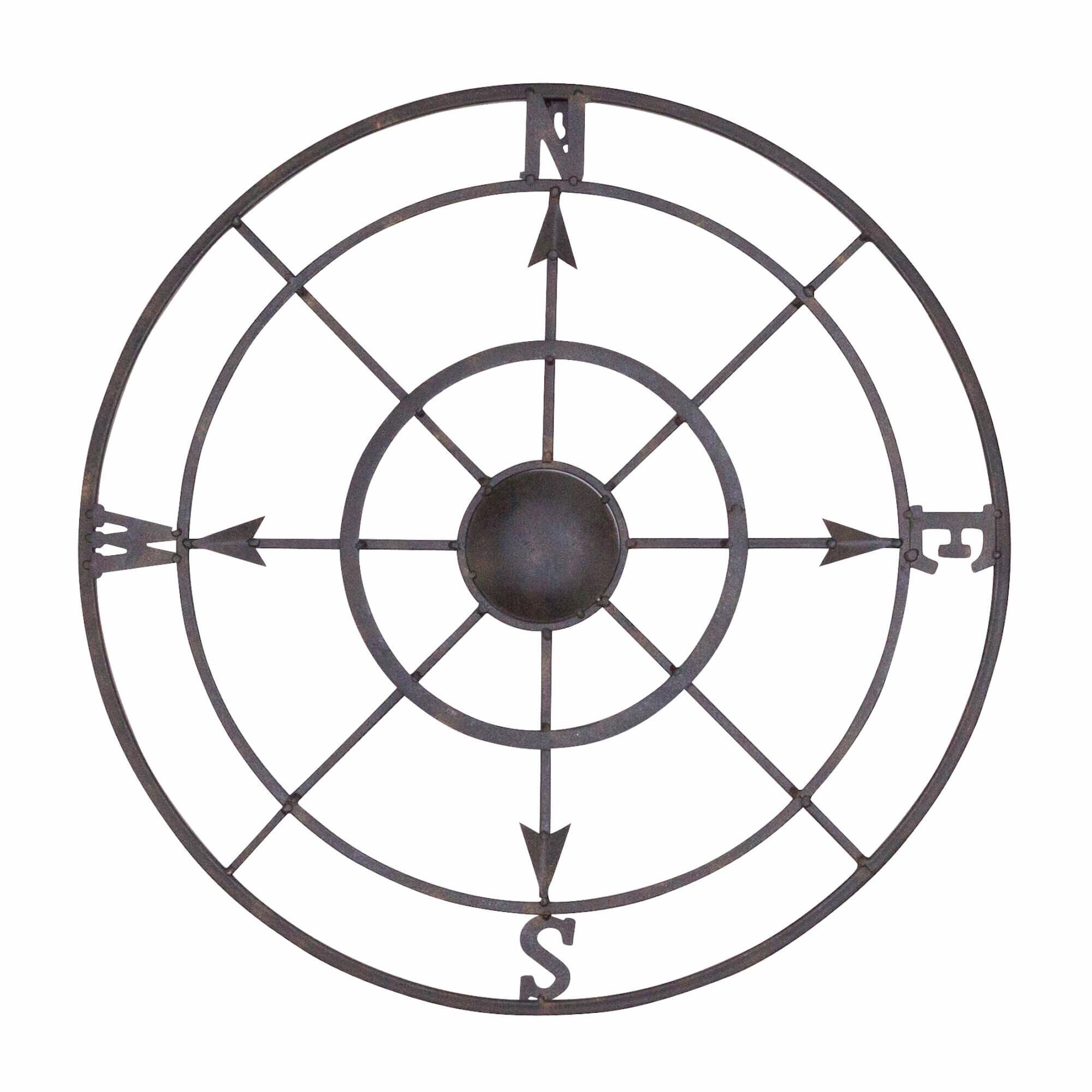 Bayaccents Nautical Metal Compass Rose Wall Décor Reviews Wayfair