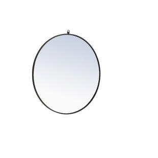 0e4ed3538cfa Black Round Mirrors You ll Love