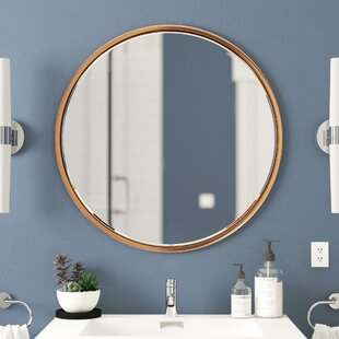 rose gold bathroom mirror wayfair rh wayfair com Bathroom Border Glass Mirrors Bathroom Border Glass Mirrors