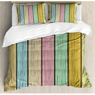Old Wooden Planks Timber Texture Rustic Farmhouse Country Home Print Duvet Set