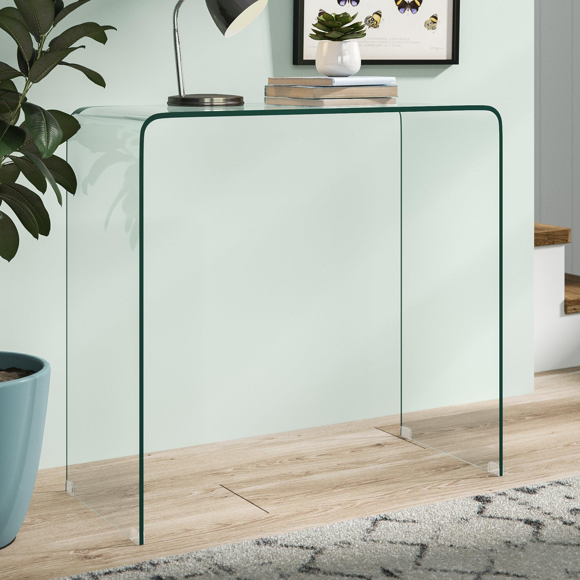 pretty nice e9e9d d1be5 Hokku Designs Bent Glass Console Table & Reviews | Wayfair.co.uk