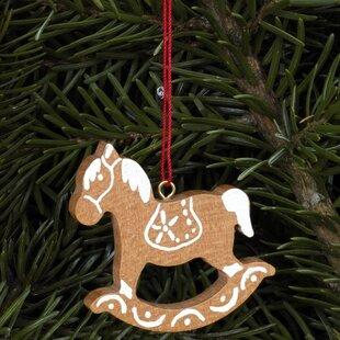 rocking horse ornament - Horse Christmas Ornaments