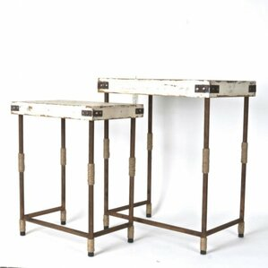 Clion Wood/Metal 2 Piece End Table Set by 17 Stories