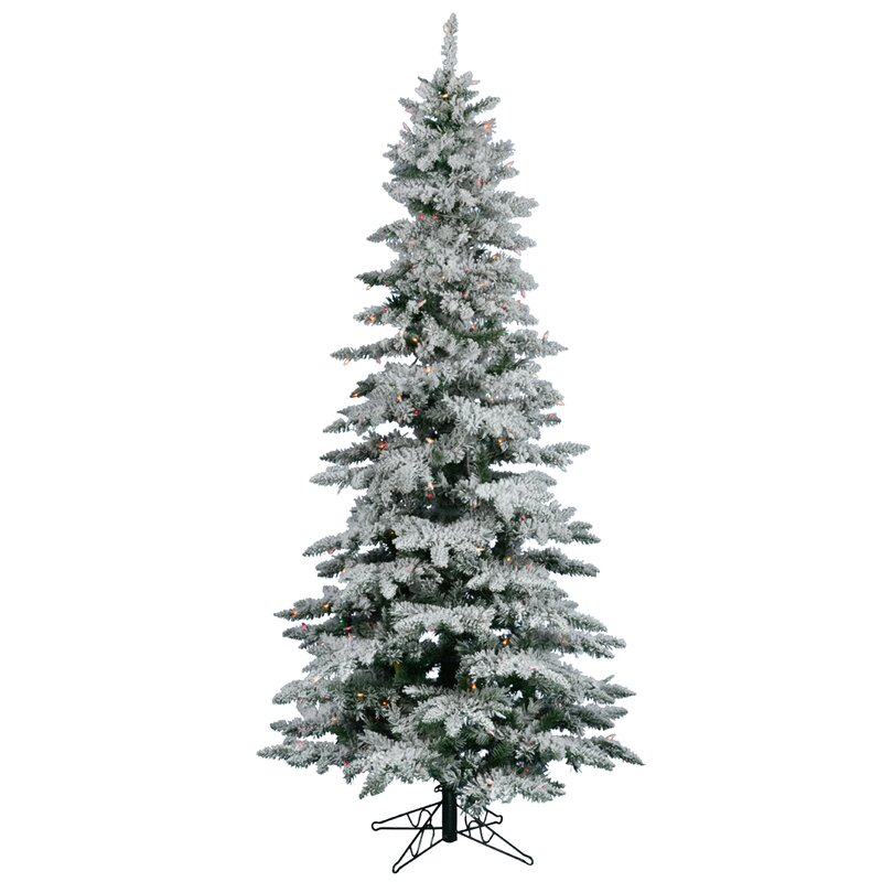 The Holiday Aisle Flocked Utica Fir 7.5' White Artificial ...