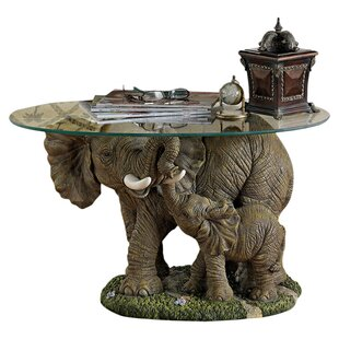 Elephant\'s Majesty Coffee Table With Glass Top By Design Toscano ...