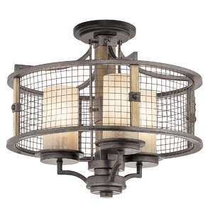 Laudalino 3-Light Drum Chandelier