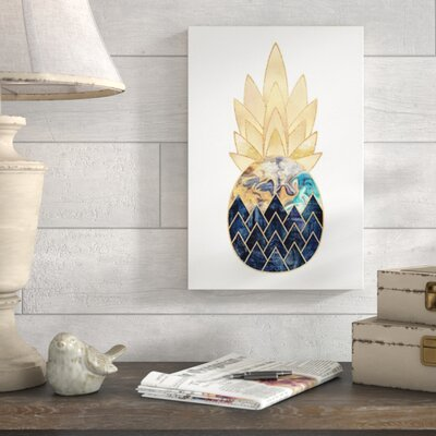 Wrought Studio 'Precious Pineapple I' Photographic Print Format: Canvas, Size: 60 H x 40 W x 1.5 D