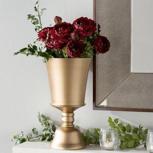 Trumpet Gold Aluminum Vase