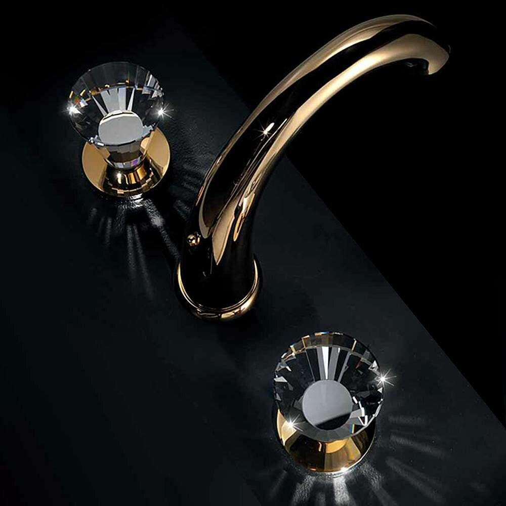 MaestroBath Artik 3 Hole Luxury Widespread Bathroom Faucet   Wayfair