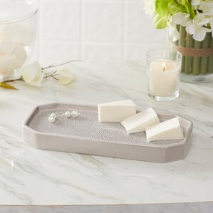 hewitt porcelain bathroom accessory tray - Bathroom Accessories Vanity Tray