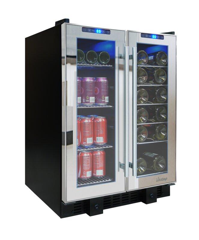 Vinotemp 36 Bottle Single Zone Built In Wine Cooler