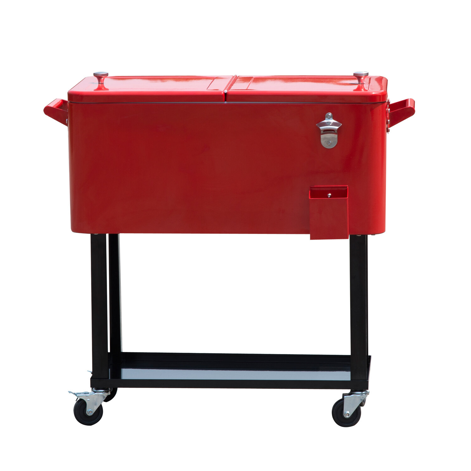 db78ae3d52bc3 Outsunny 80 Qt. Rolling Portable Drink Cooler Cart   Reviews