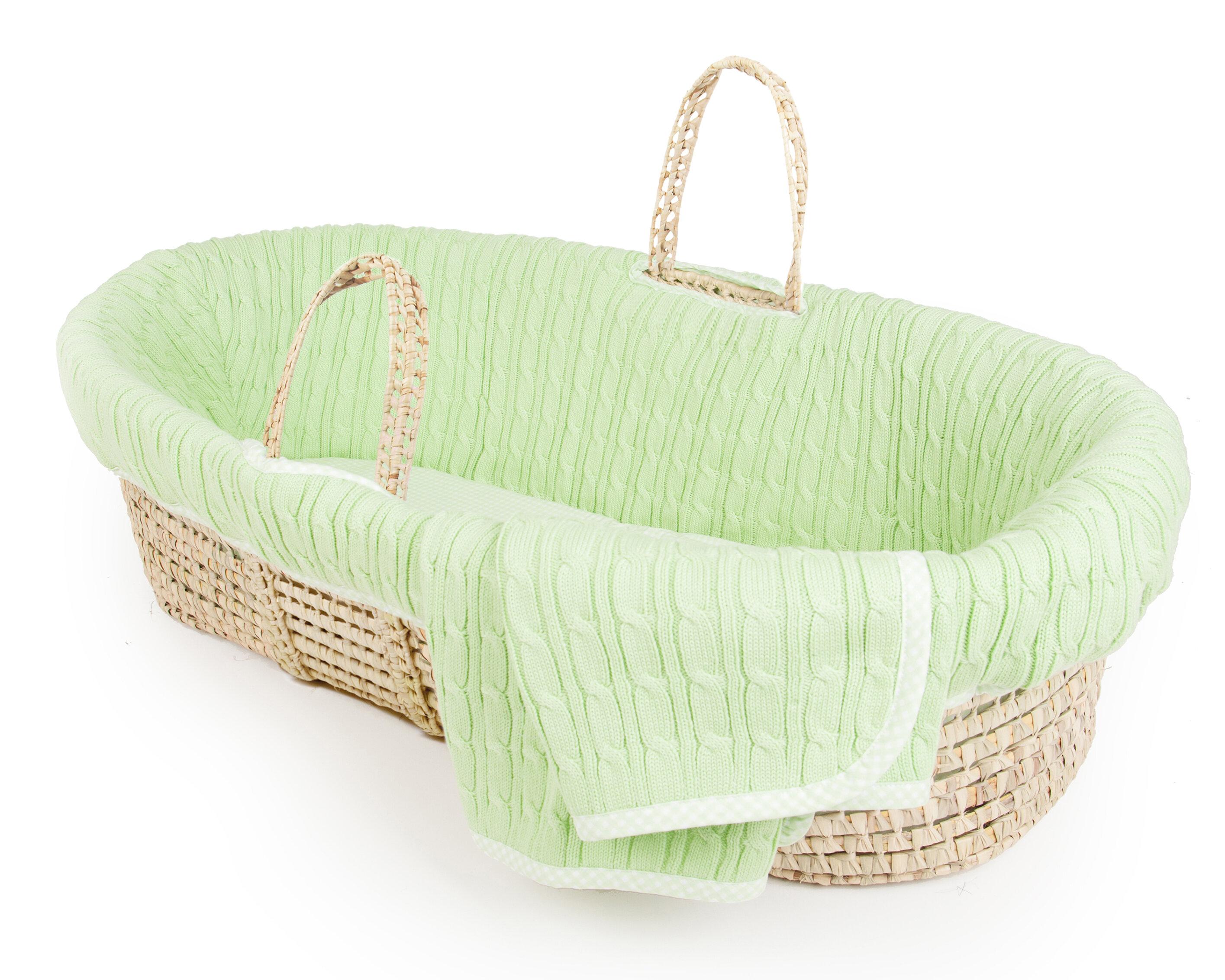 Tadpoles Cable Knit Moses Basket U0026 Reviews | Wayfair