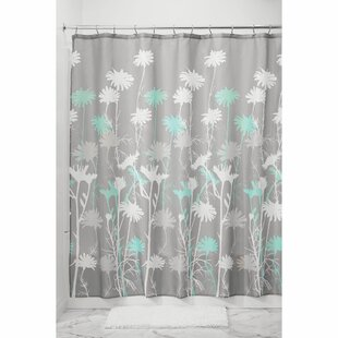 Coral And Gray Shower Curtain