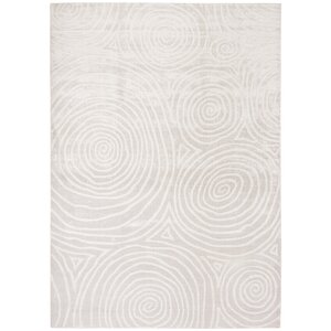Archmont Hand Woven Silk/Cotton Ivory Area Rug