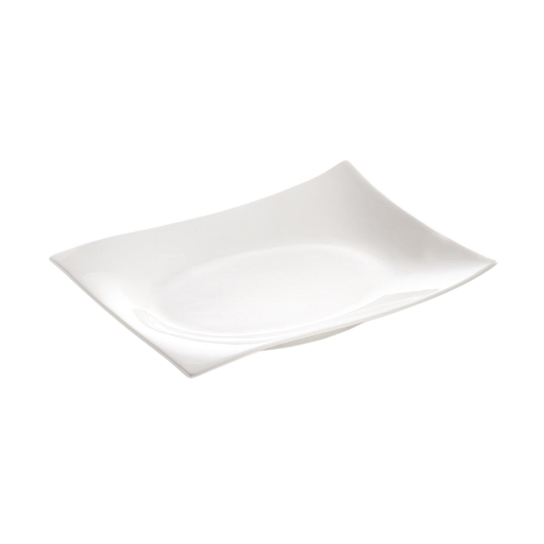 Maxwell u0026 Williams White Basics Motion Rectangular 6  Dinner Plate u0026 Reviews | Wayfair  sc 1 st  Wayfair & Maxwell u0026 Williams White Basics Motion Rectangular 6
