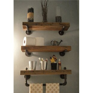 Charmant Borrero Industrial Pipe Accent Wall Shelf