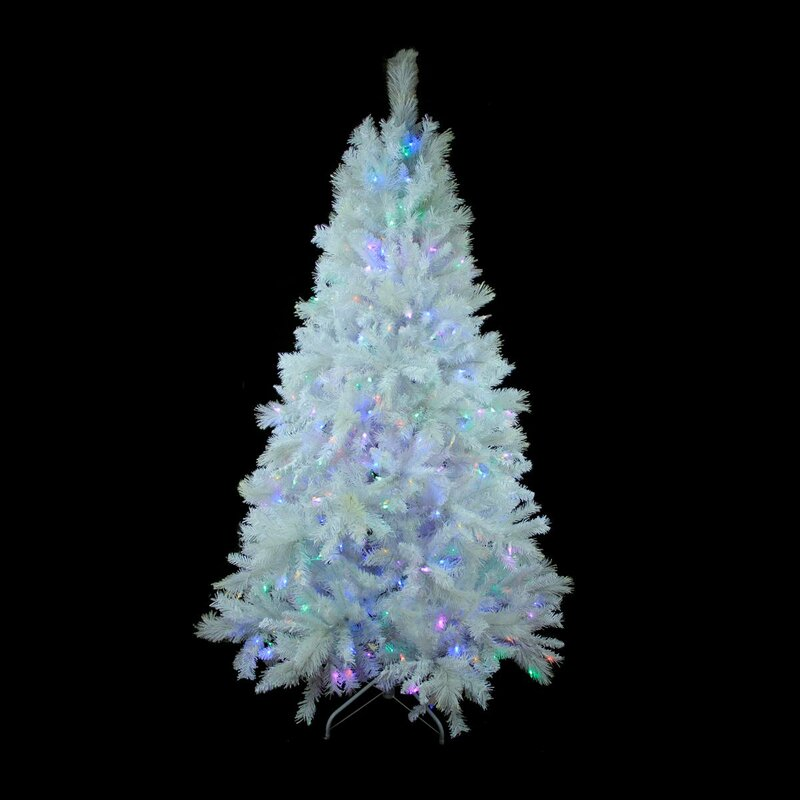 White christmas tree with led lights christmas decore for Small led lights for crafts michaels