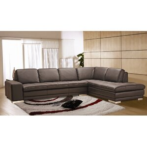 Marvelous Bender Leather Sectional