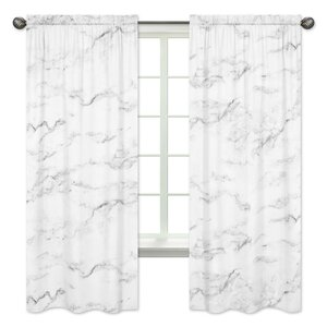 Marble Window Curtain Panels (Set of 2)