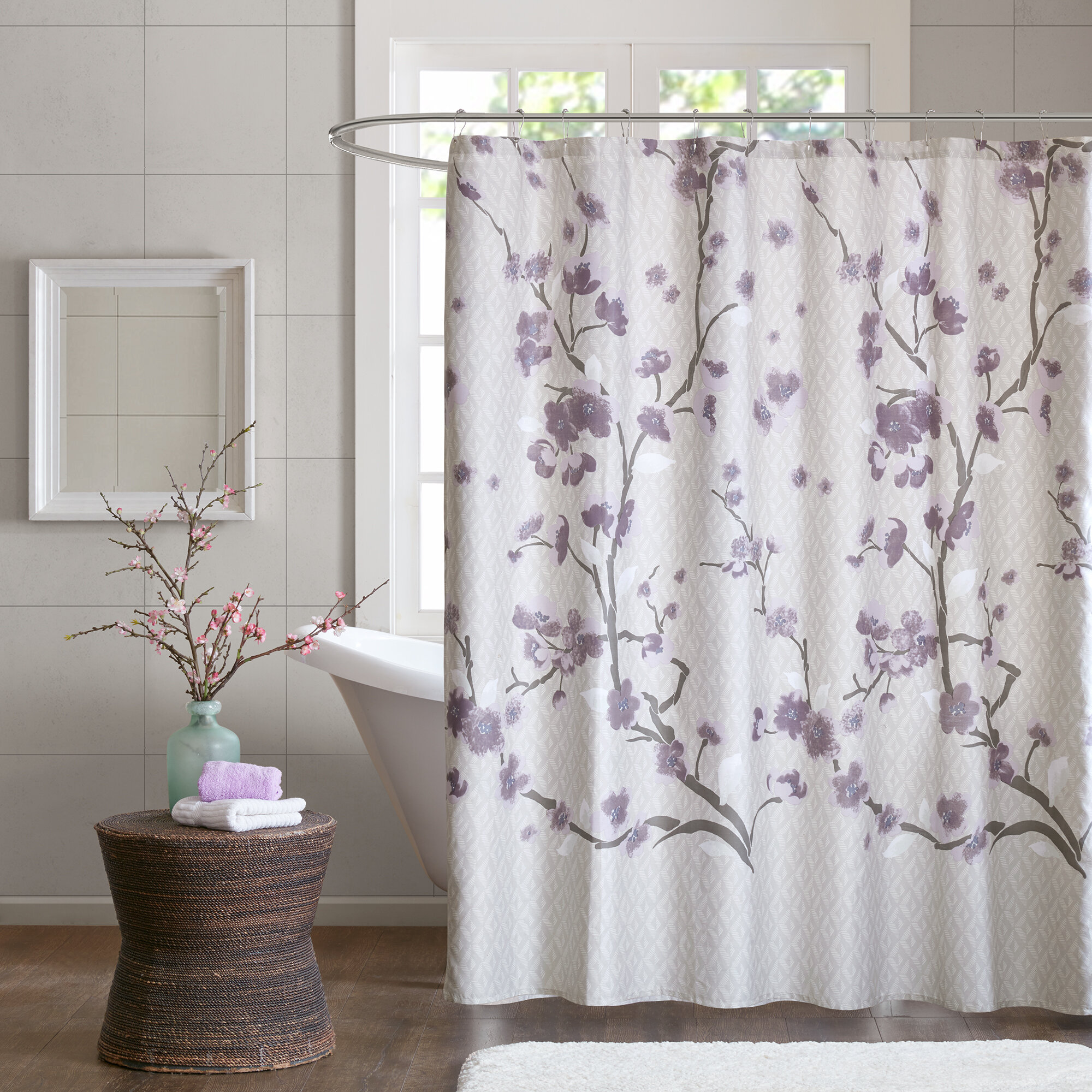 Latitude Run Buchanan Cotton Shower Curtain Reviews