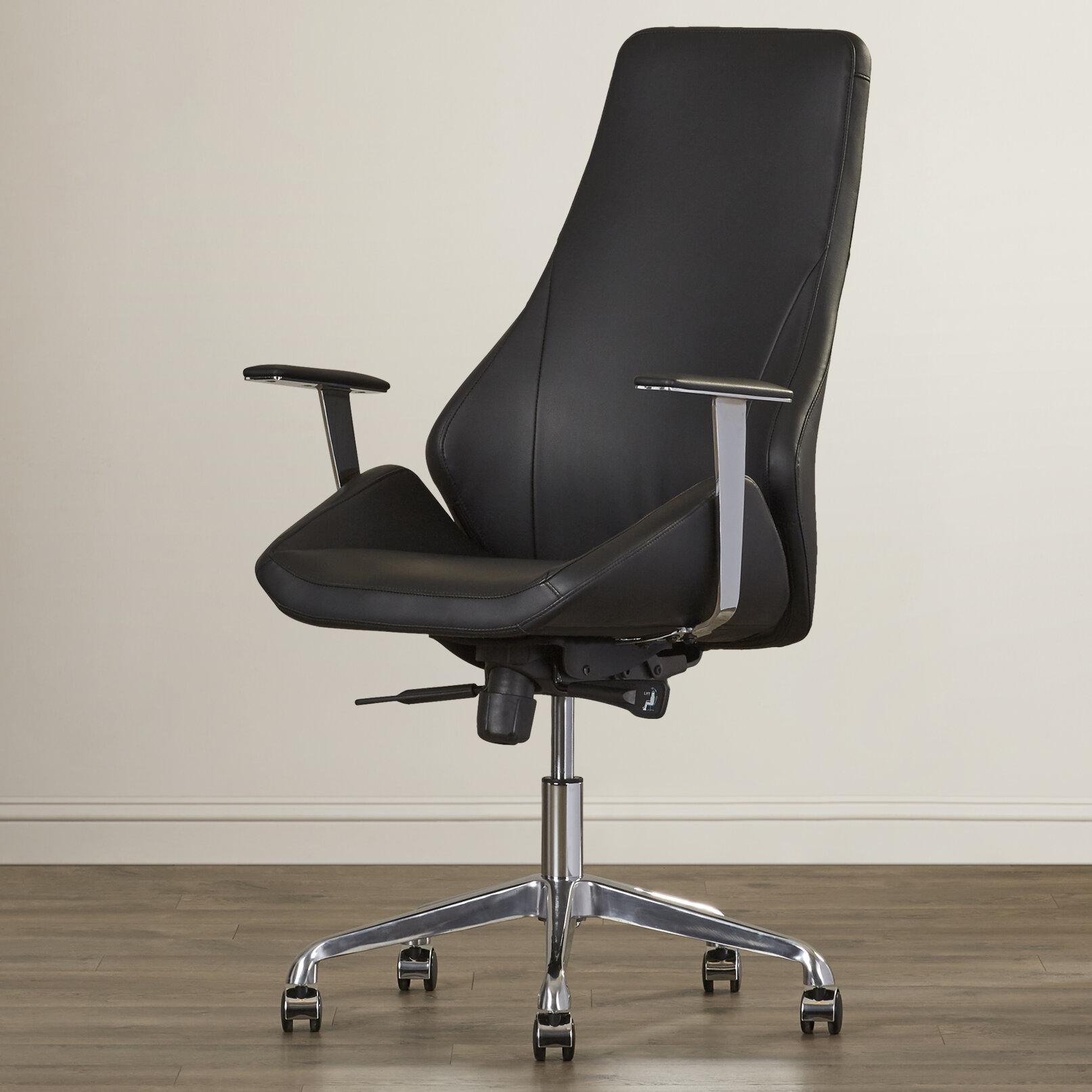 orren ellis alya chrome frame desk chair wayfair