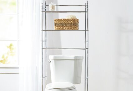 Bathroom Storage & Organization You'll | Wayfair.ca on over the toilet furniture, over the toilet shower, over the toilet storage, over the toilet tables, over the toilet bars,