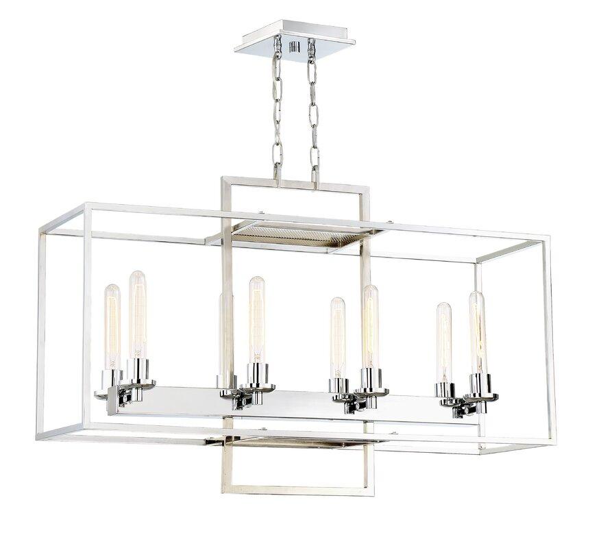 Gretna 8 light candle style chandelier