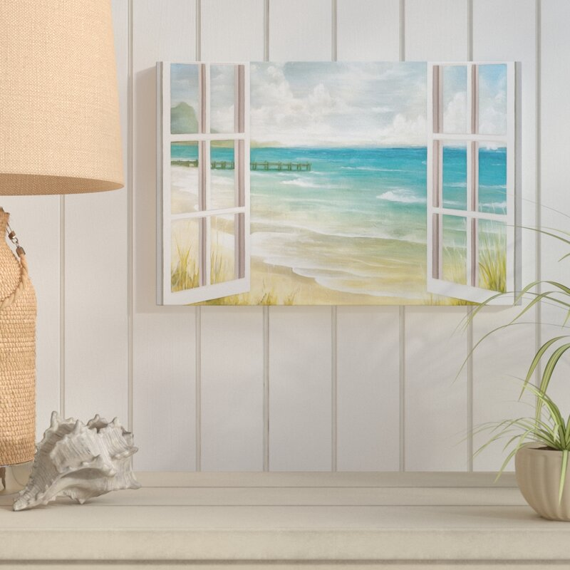 open windows to beach paradise acrylic painting print