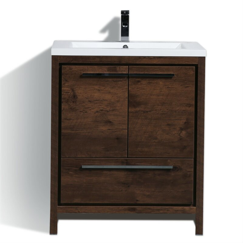 Almendarez Free Standing Modern 30 Single Bathroom Vanity Set Reviews Joss Main