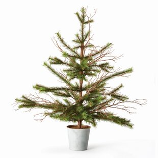 3 greenbrown artificial christmas tree