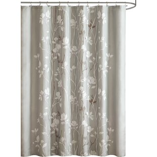 Brown And Gray Shower Curtain. Boutte Shower Curtain Nature  Floral Curtains You ll Love Wayfair