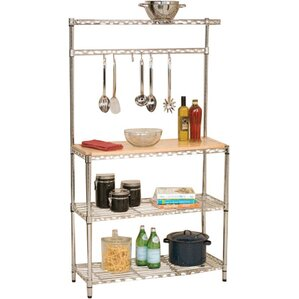 Wayfair Basics Baker's Rack Workstation with Rubberwood Top by Wayfair Basics?