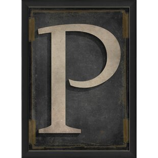 Letter P Framed Textual Art  sc 1 st  Wayfair & Letter P Wall Art | Wayfair