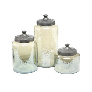 Round Luster 3 Piece Kitchen Canister Set