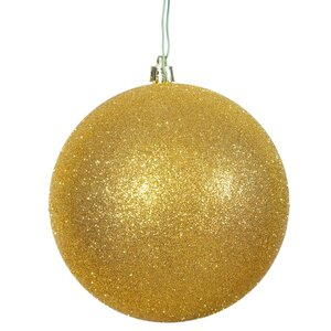 Gliter Christmas Ball Ornament with Pre Drilled Cap