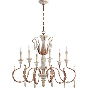 Smokey grey chandelier wayfair la maison 6 light chandelier aloadofball Image collections