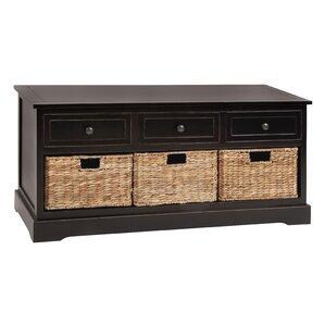 nimah wood storage bench