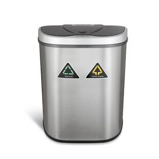Nine Stars 18.5 Gallon Motion Sensor Multi Compartments Trash U0026 Recycling  Bin