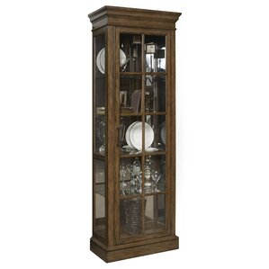 Hosking Lighted Curio Cabinet by Darby Home Co