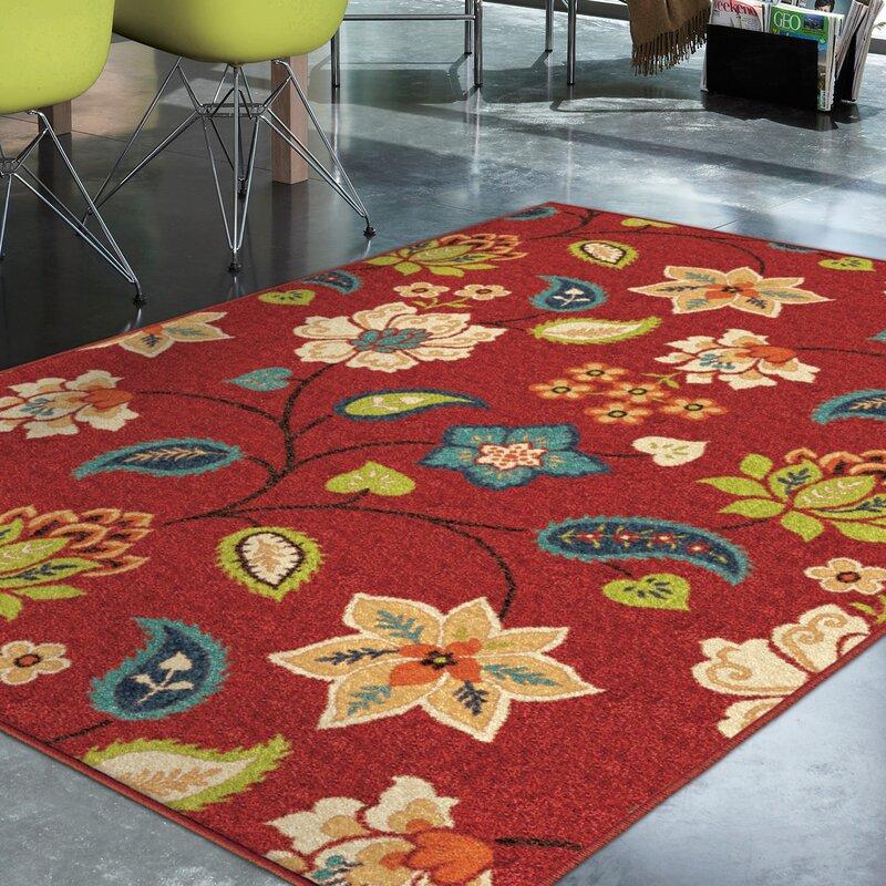 Threadbind Lymon Red Indoor/Outdoor Area Rug & Reviews | Wayfair